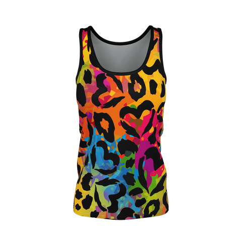 HEARTS ON RAINBOW STORM Tank Top