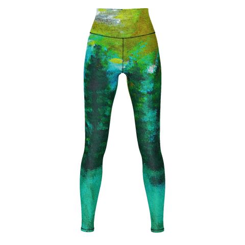 Green Forest Yoga Pants