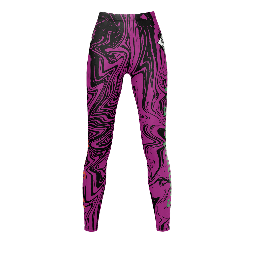 Women's Legging Purple Marble