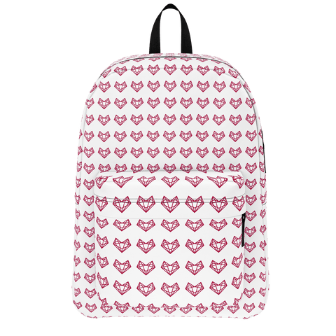 Sistersquad Family Maroon Heart Classic BackPack (White)