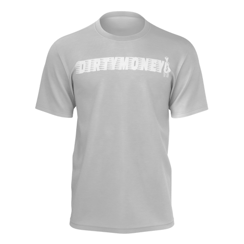 DIRTYMONEY MBF TEE LOGO GREY/WHITE