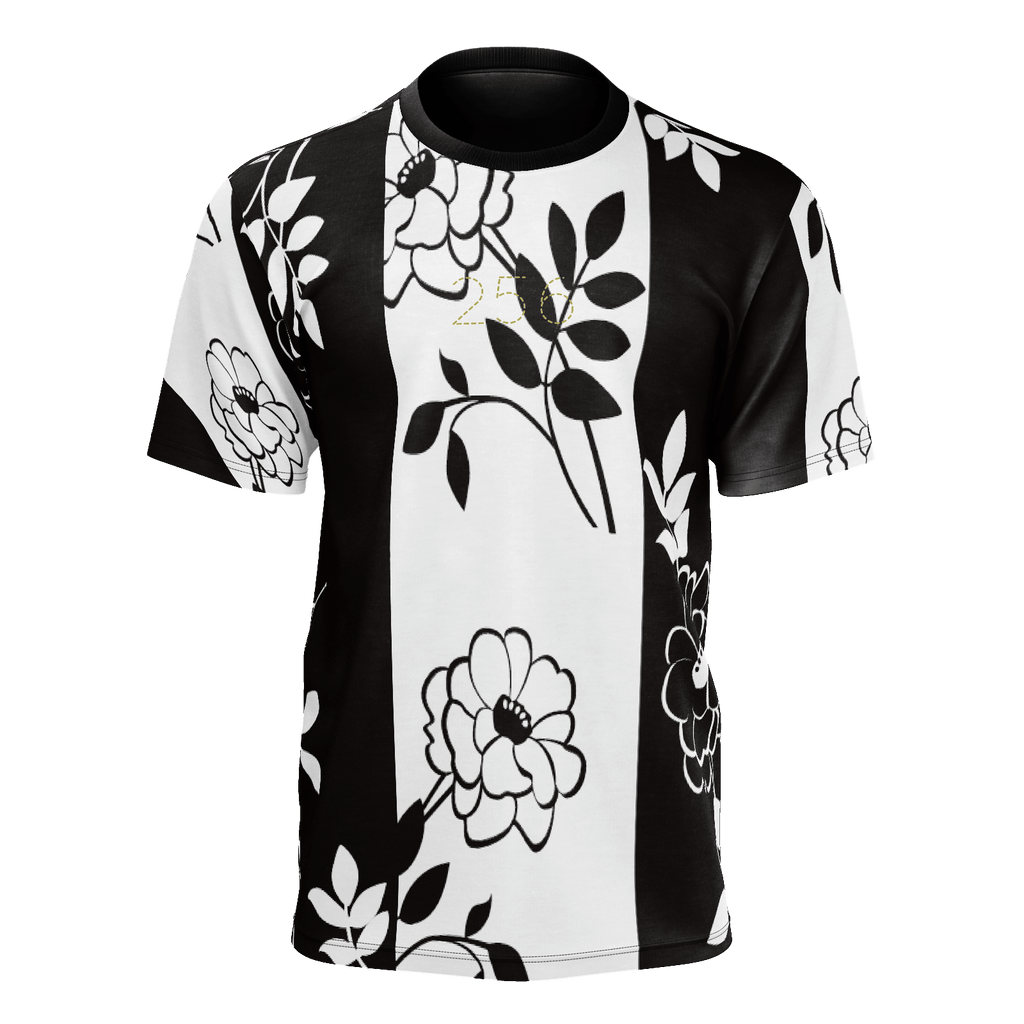 256 - Rose Black White T-shirt
