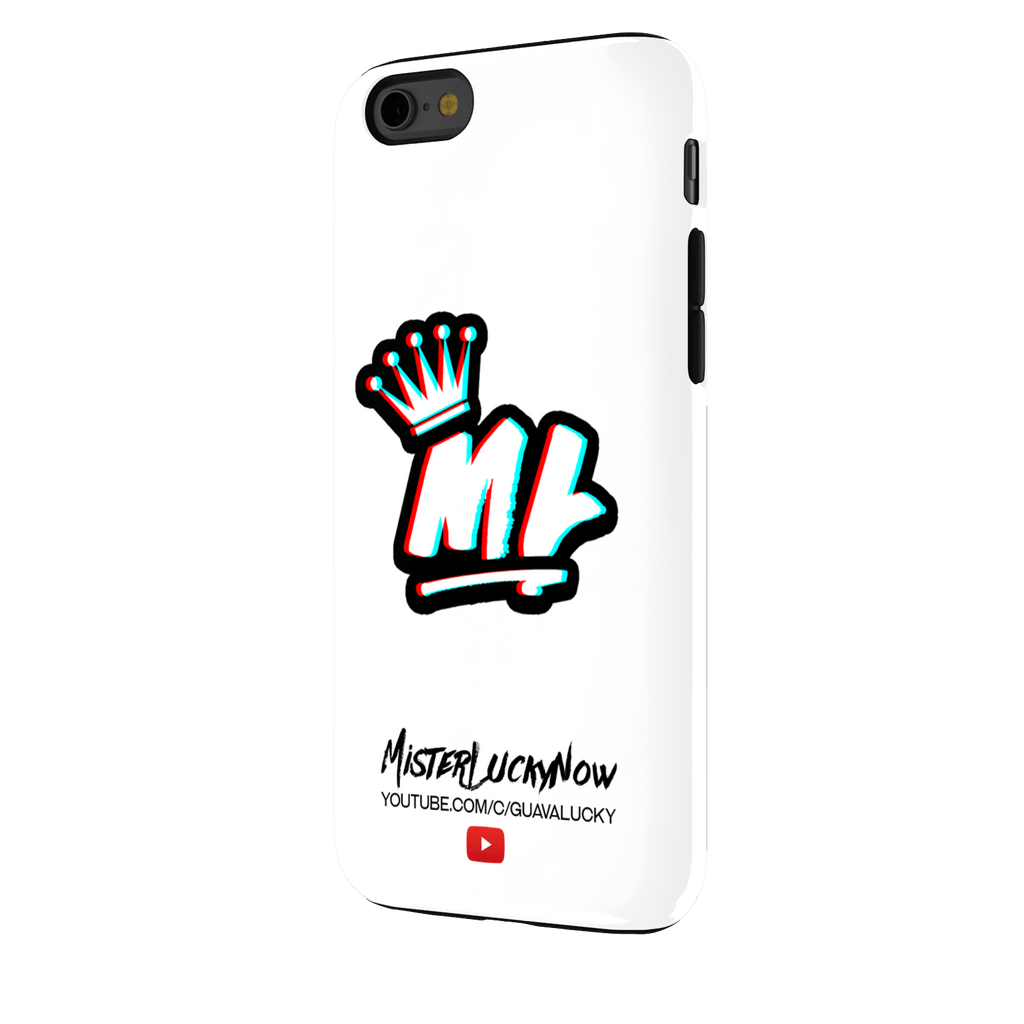 WHITE MISTERLUCKY IPHONE 6S CASE