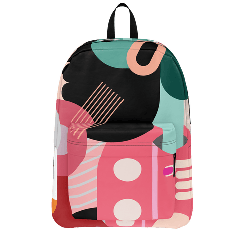 School Bus Aliens Backpack Pink