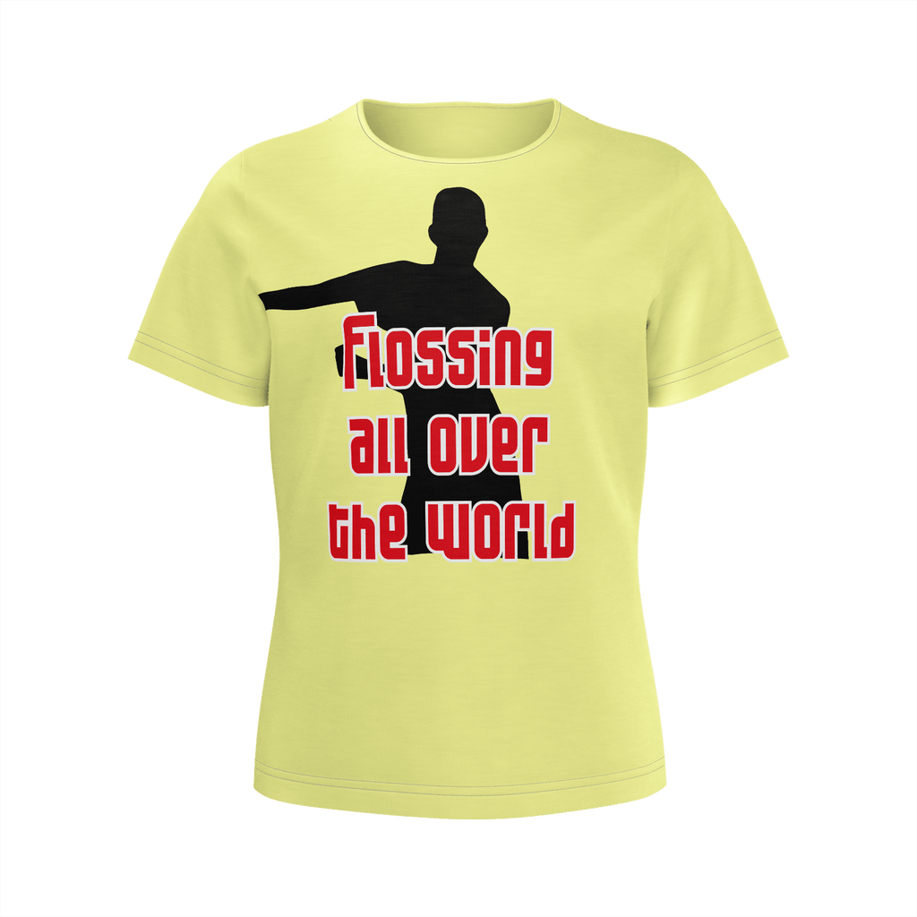 Flossing all over the world girls T-shirt