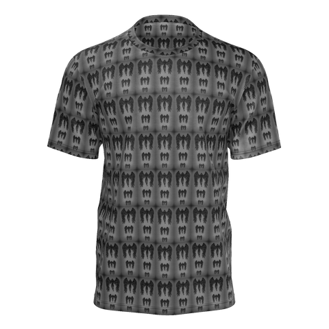 Angel Grayscale Multi Pattern Man Tee