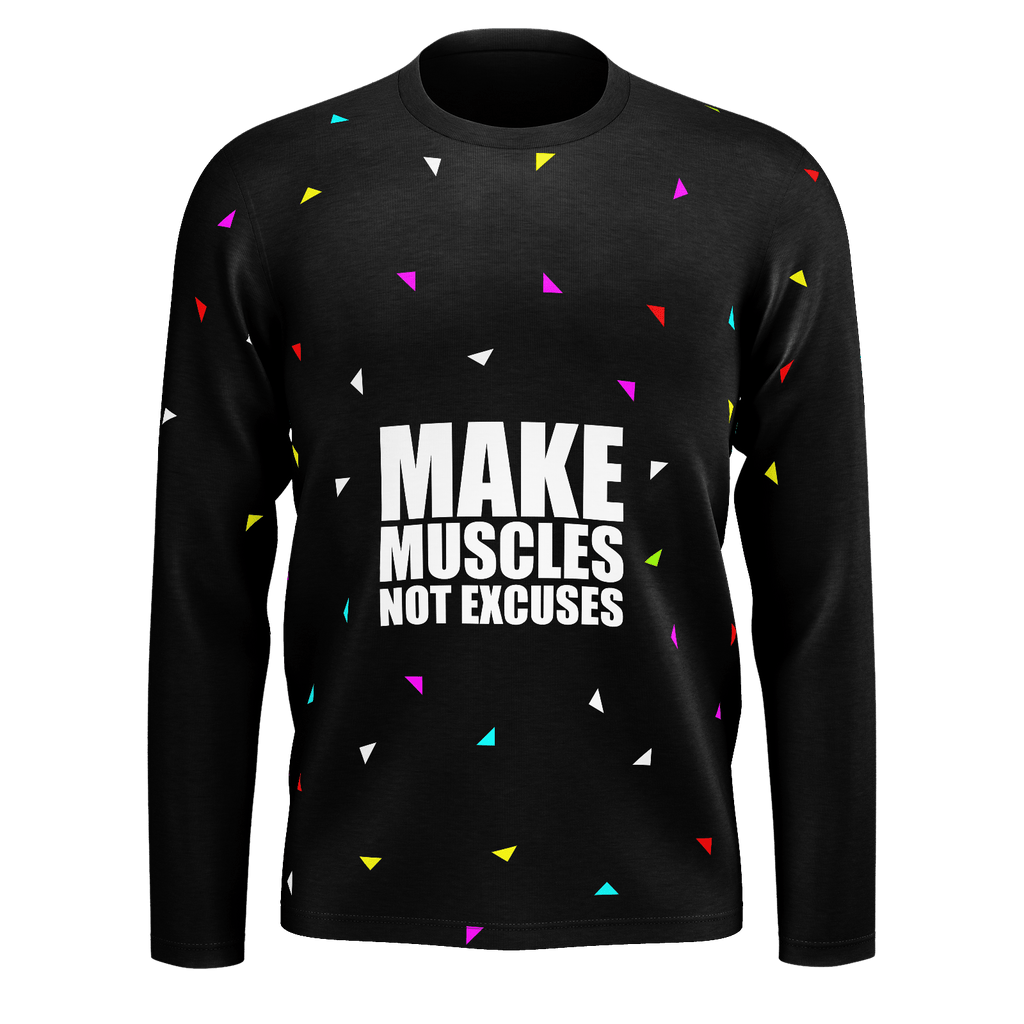 Make Muscles not excuses.. Gym Motivational Fashion (Party Style)