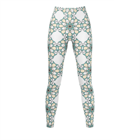 Circle Flower Pattern Leggings