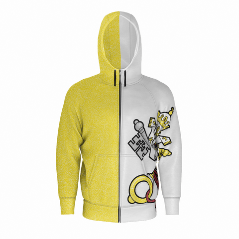 (Adult) Papal Ninja Vatican Flag Zip-Up Hoodie