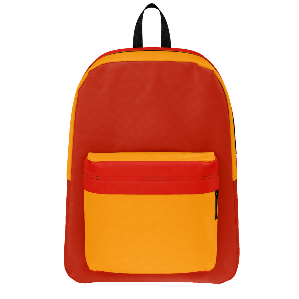 Gold and Two Red Design Rucksack