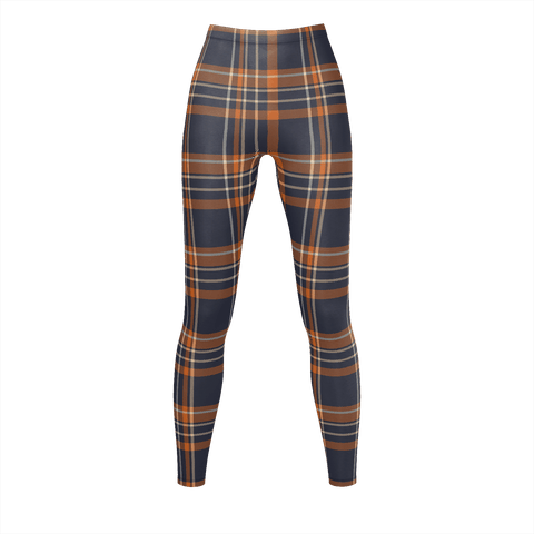 Oange Checkered Pattern Leggings