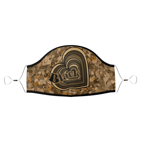 Black Love Heart - Brown Camo : PPE