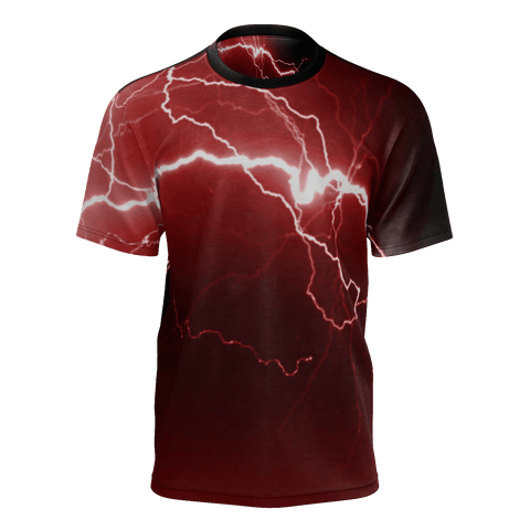 Red Lightning Mens T-shirt
