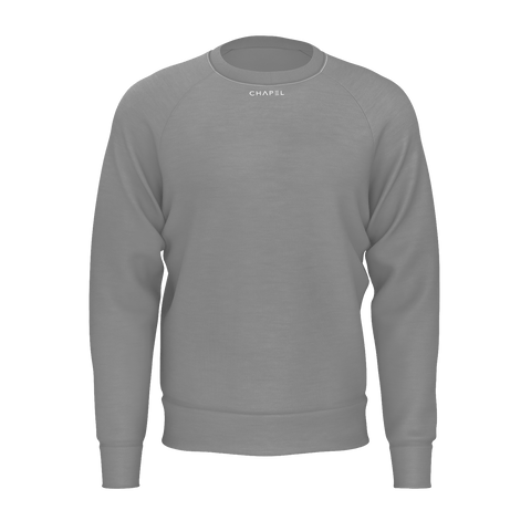Plus One Grey Mens Jumper