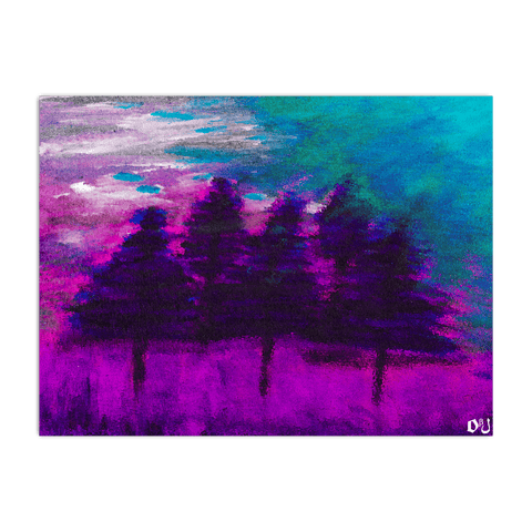 Pink Forest Horizontal Poster