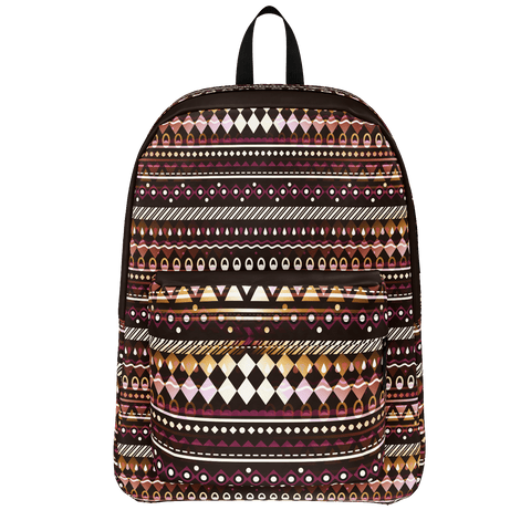 Gold and Maroon Tribal Pattern Backpack