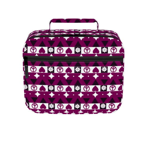 Peace and Love pattern Lunch box