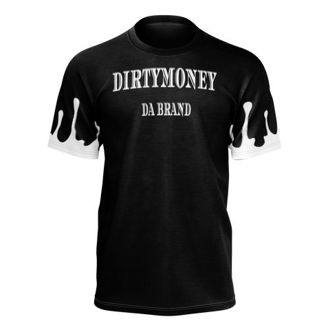 DIRTYMONEY DRIP TEE Black/W