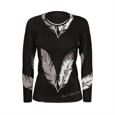 Feathers Sleeve For Woman (Black)