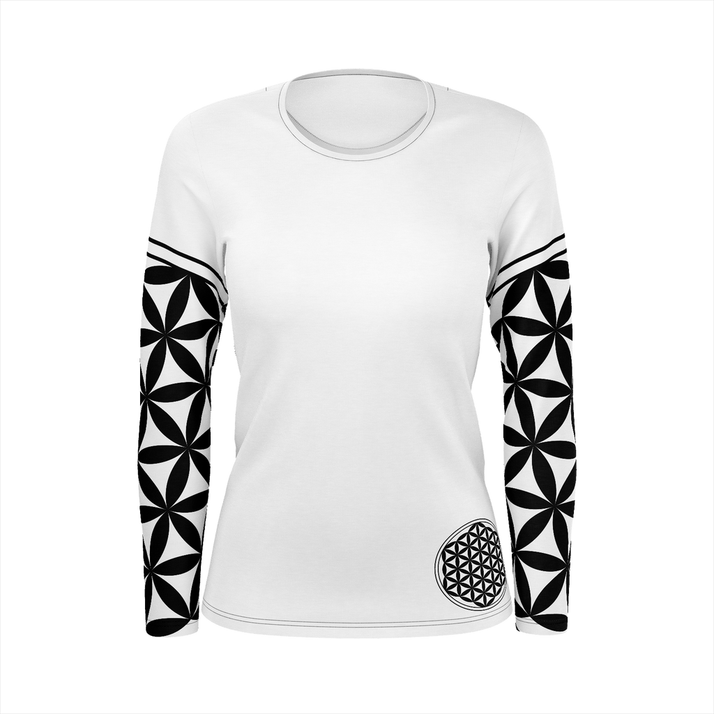 FLOWER OF LIFE SLEEVES WITH GEOMETRY EYE ON THE BACK WOMENS