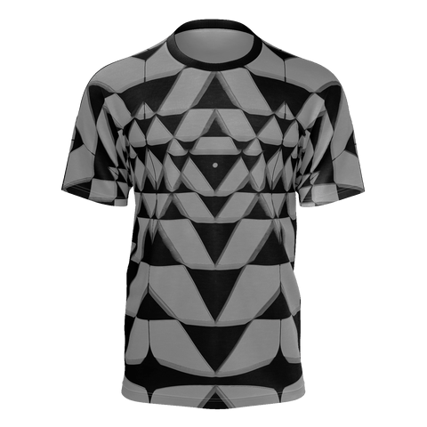 Shree Yantra on Gray Tshirt Men