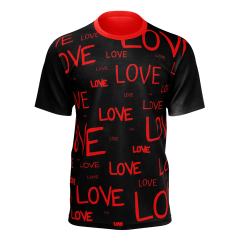 LOTS OF LOVE, Mens T-shirt (Black)