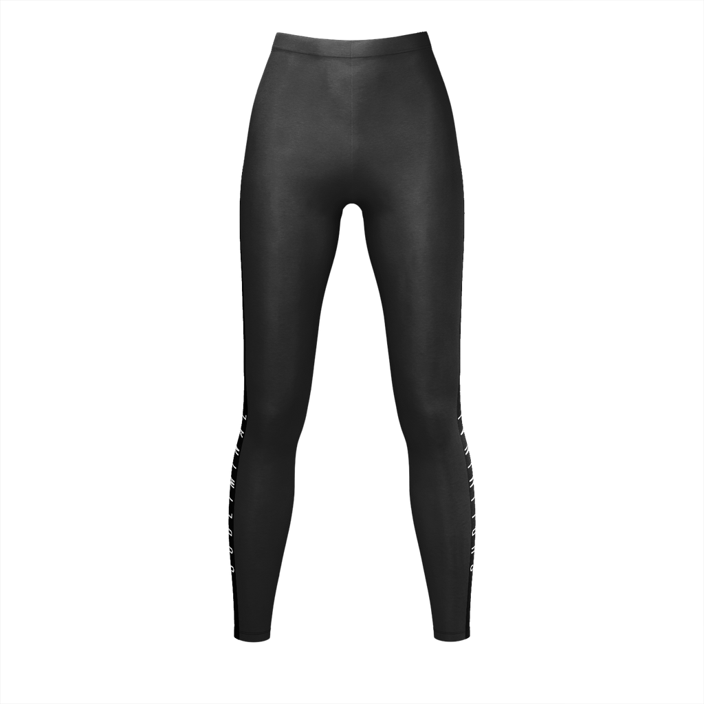 Subliminal Black Stripe Leggings