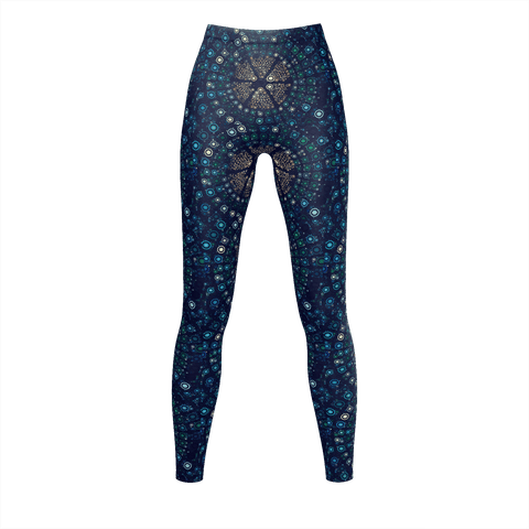 Abstract Circle Pattern Leggings
