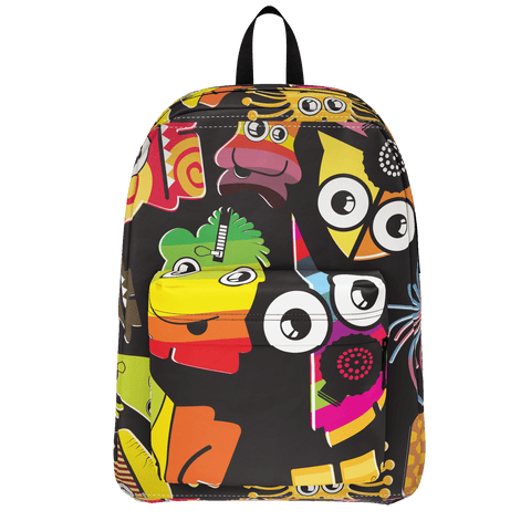 School Bus ALiens Backpack Jamaican