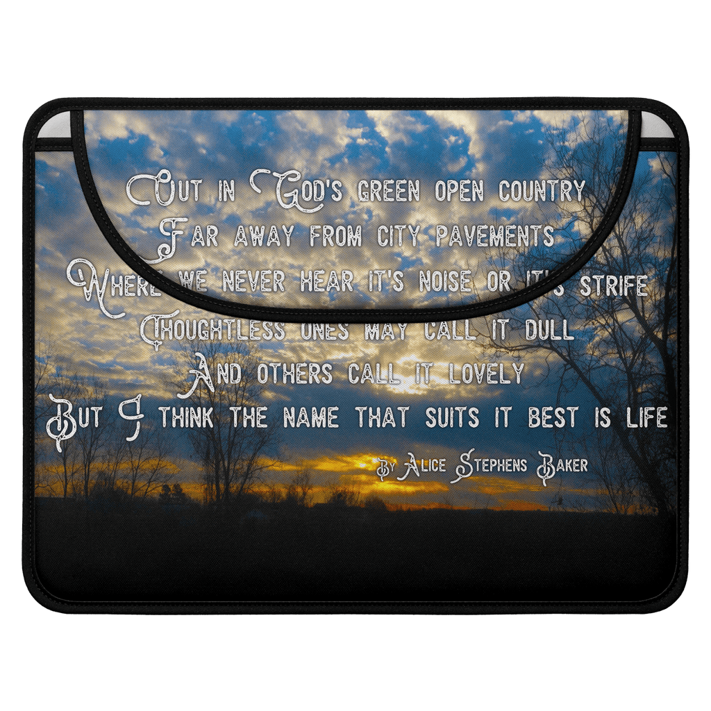 Country Sunrise (Poem) Envelope Laptop Sleeve