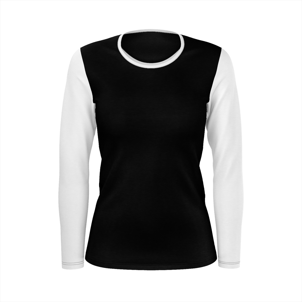 Stylish black and white shirt/womens.