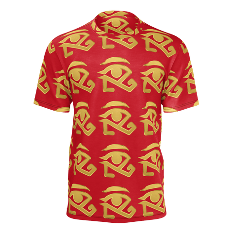 Red shirt with Gold Logo