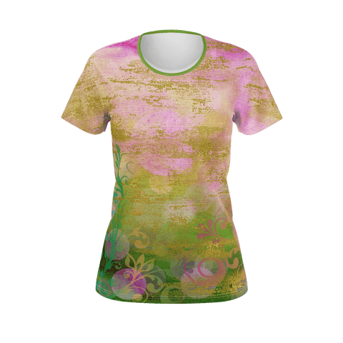 Colorful Fantasy Floral Garden Women's T-shirt
