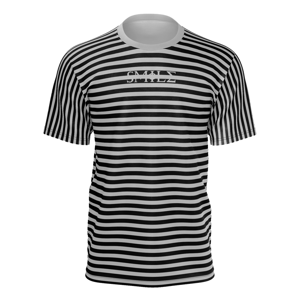Smile Striped T-Shirt Gray