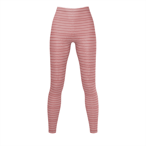 Red & White Striped Pattern  Leggings