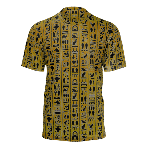 Ancient Egypt Hieroglyphic Dark Orange Man Tee