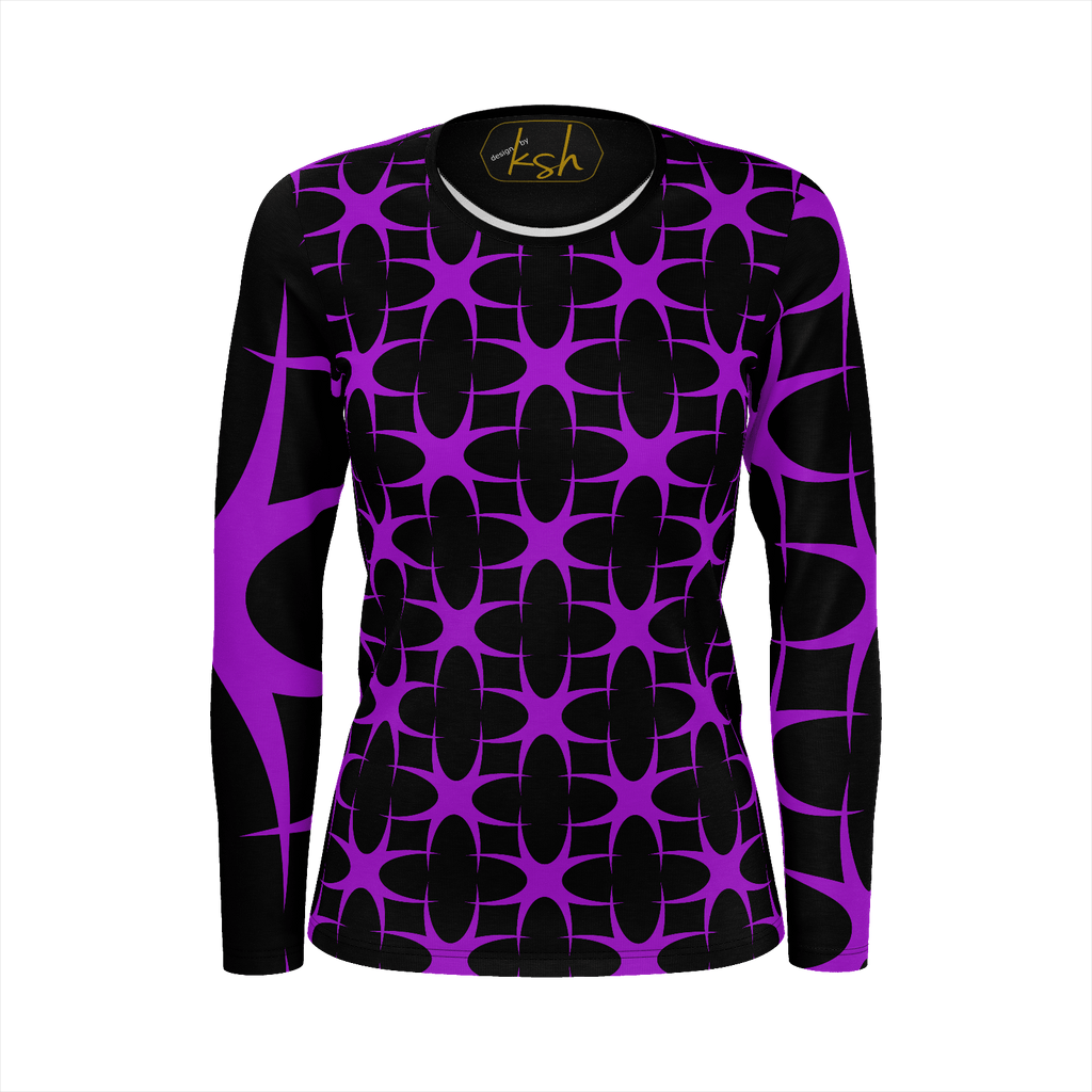 "ksh, ""PurpleGeo"" Womens Shirt"