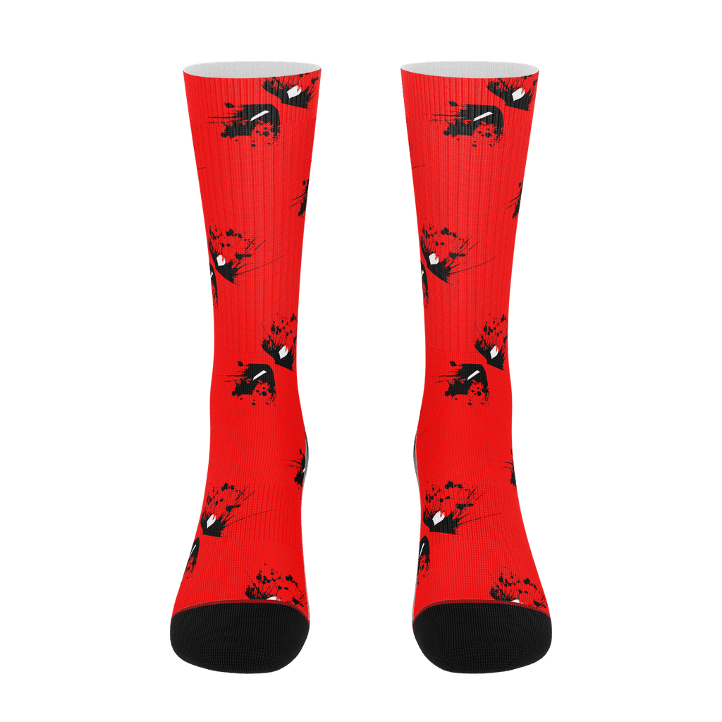 Deadpool Splatter Socks
