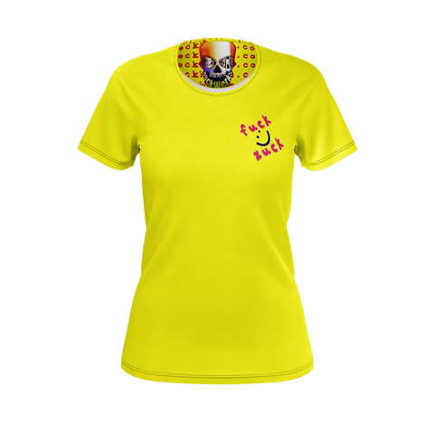 GO ZUCK YOURSELF WOMENS T YELLOW