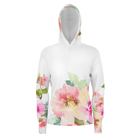 Womans pullover hoodie Floral