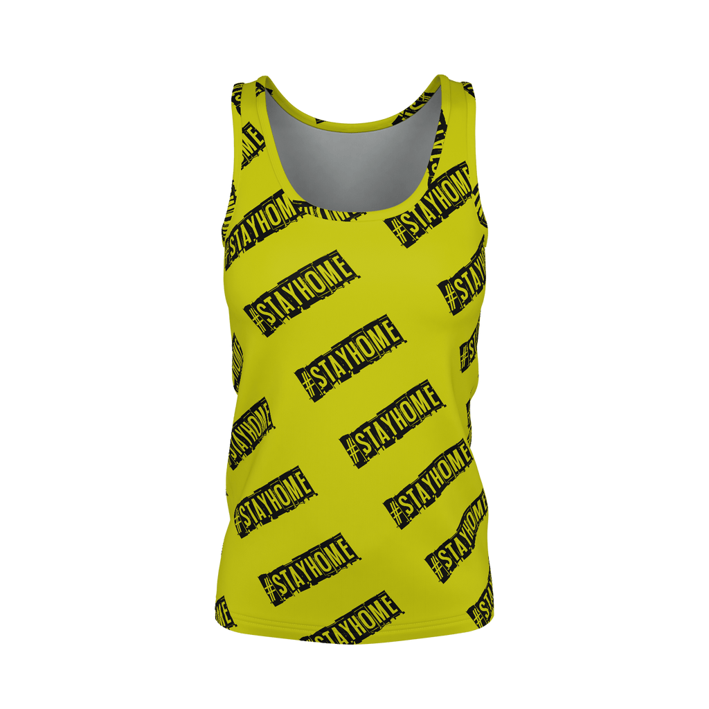 #StayHome Women's SJ Tank Top (Mustard)