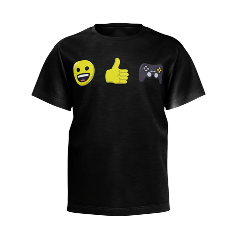 EmojiThumbsGaming T-Shirt (Kids) / Black