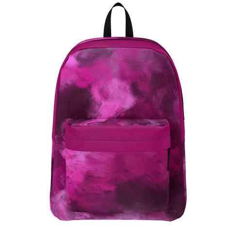 Dark Magenta Storm Oil Painting Backpack