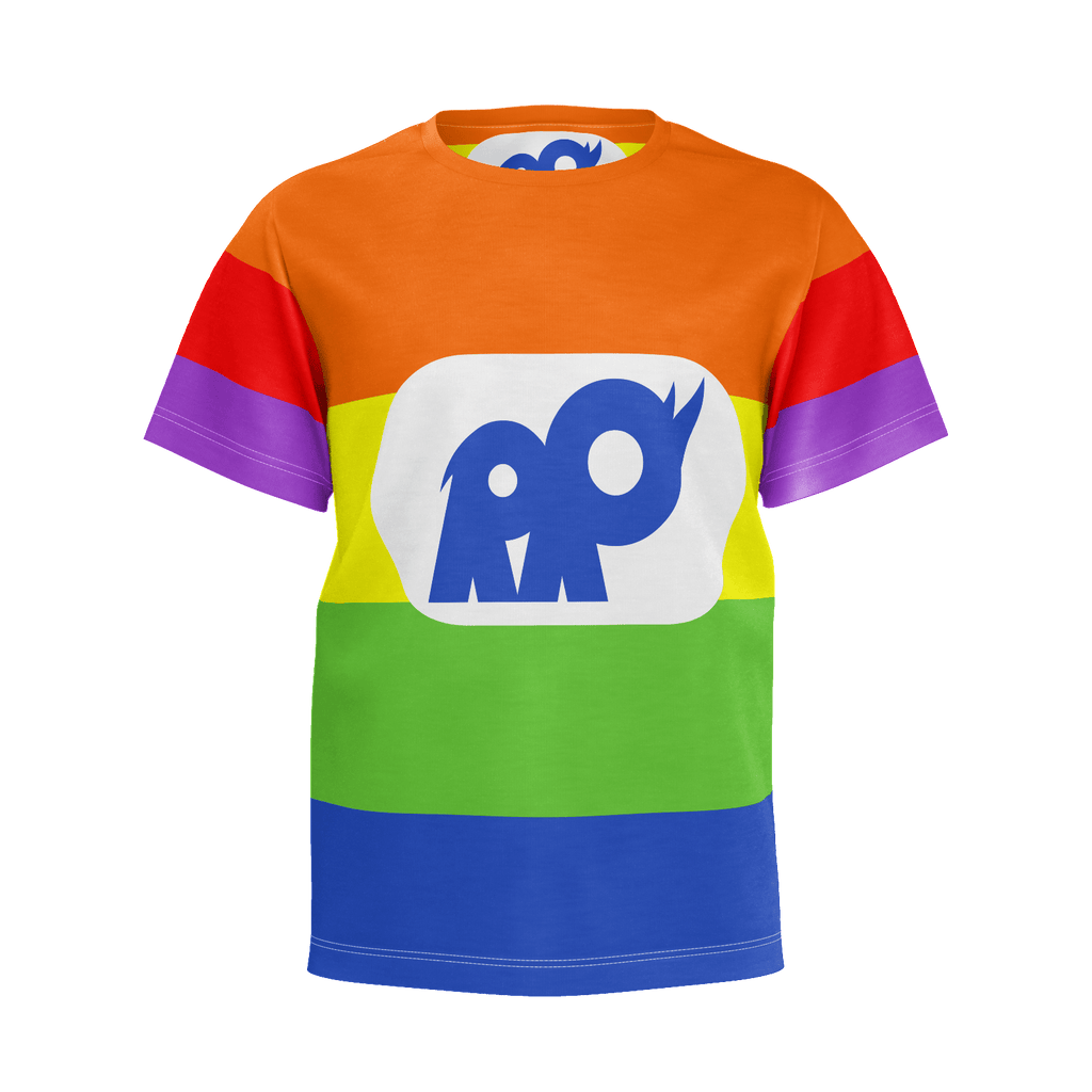 Rainbow Rhino Man Suit (Kids)
