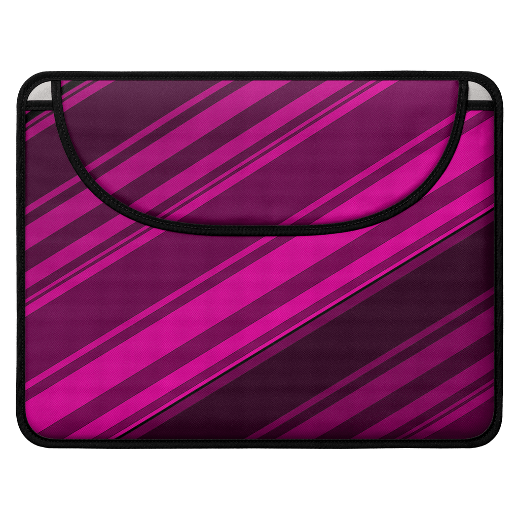 Black/Pink Diagonal Striped Envelope Laptop Sleeve