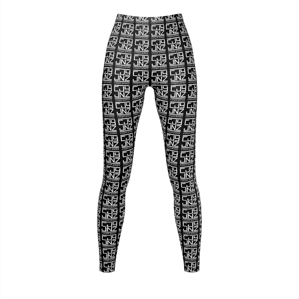 Allover Logo Leggings (Black)