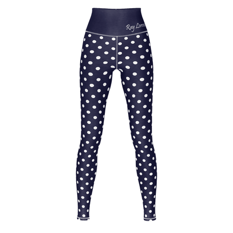 Polka Dot Yoga - Midnight Blue
