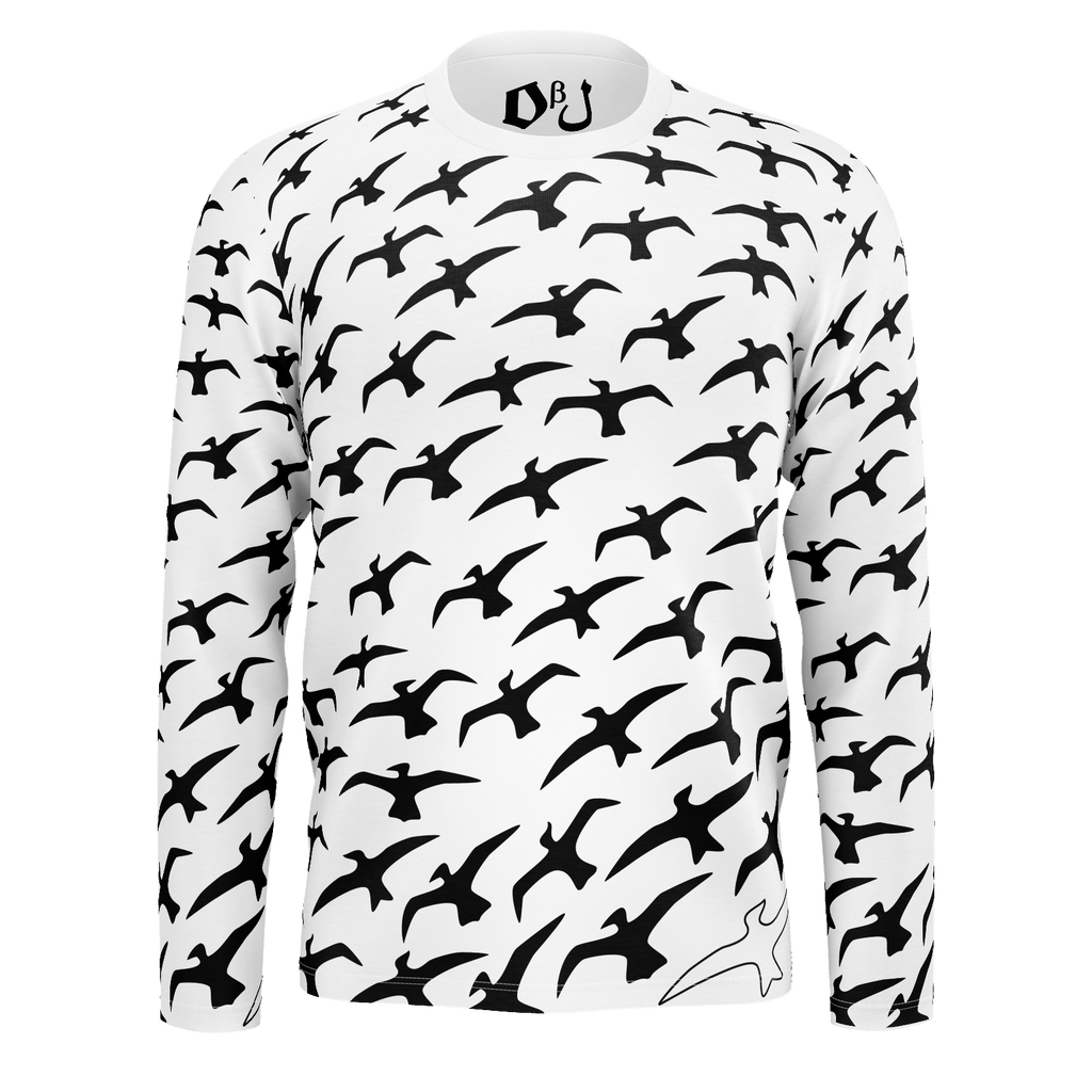"""Birds"" Men's Long Sleeve SJ T-Shirt"