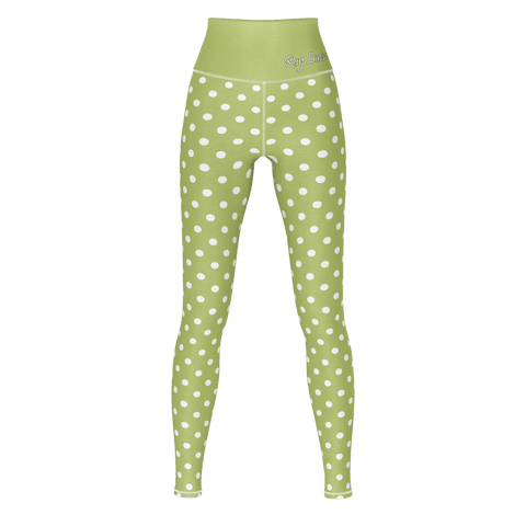 Polka Dot Yoga - Green Olive