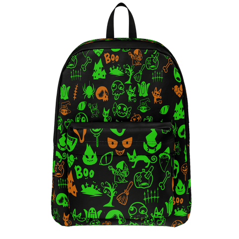 Cute Orange and Green Halloween Characters Backpack
